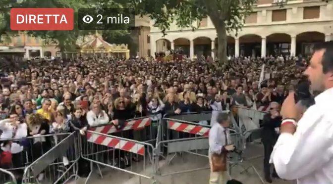 Spray urticante al comizio di Salvini: volevano il morto?