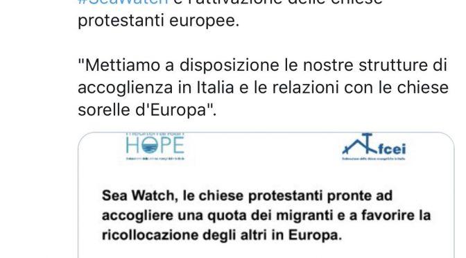 I Valdesi vogliono i clandestini della Sea Watch, finanziano l'invasione con l'8×1000