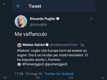 Prof globalista manda a quel paese Salvini