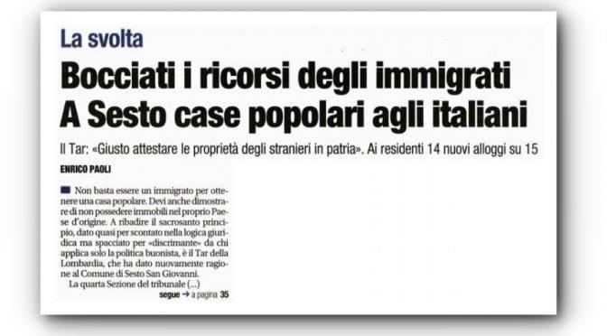 Case prima agli italiani, bocciati ricorsi immigrati