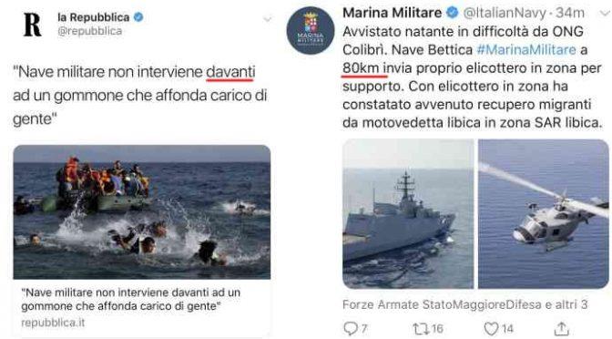 Marina militare costretta a smentire fake news Repubblica