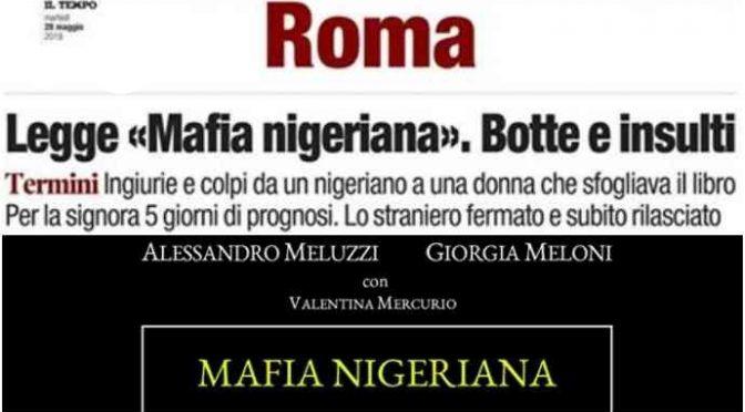 Pestata da nigeriano perché legge libro Meluzzi su mafia nigeriana