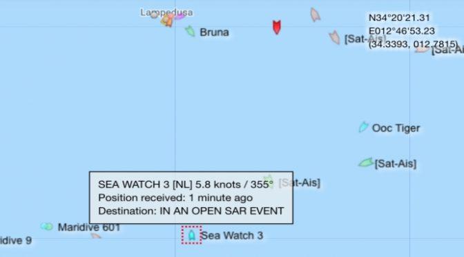 """SeaWatch punta Lampedusa: """"Entreremo in acque italiane"""""""