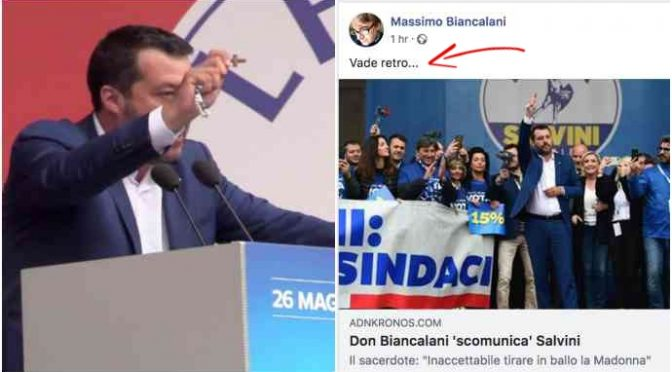 "Don Biancalani scomunica Salvini: ""Vade retro"""