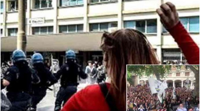 Modena, folla invoca Salvini: teppisti rossi lanciano sassi – VIDEO
