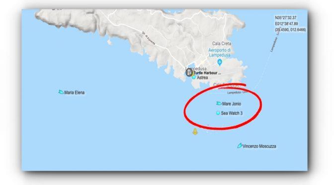 Mare Jonio dissequestrata da Patronaggio sfiora Sea Watch e si allontana