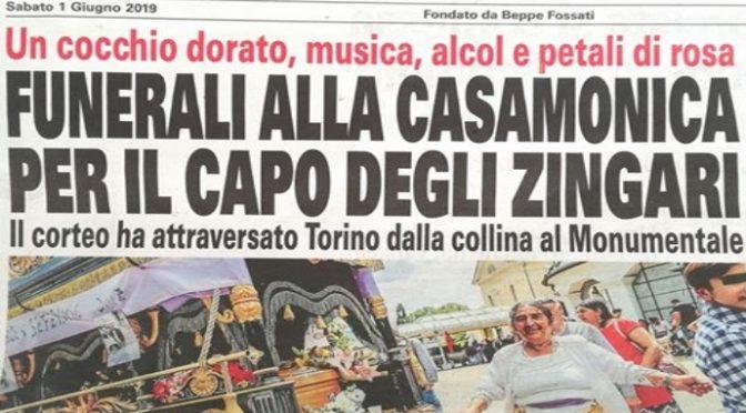 A Torino funerale trash per il boss degli zingari Casamonica
