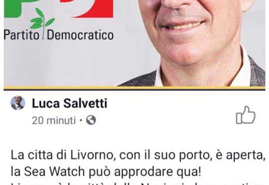 """Livorno, sindaco Pd invita Sea Watch: """"Sbarchi da noi"""""""