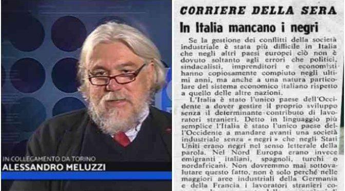 """Meluzzi: """"era tutto previsto: il piano per colonizzare l'Italia"""" – VIDEO"""