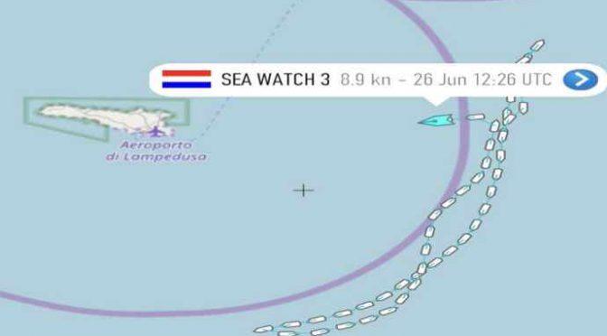*SEA WATCH ENTRA IN ACQUE ITALIANE: SONO TERRORISTI*