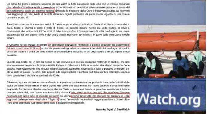 *Sea Watch minaccia ancora: si preparano a violare acque italiane*