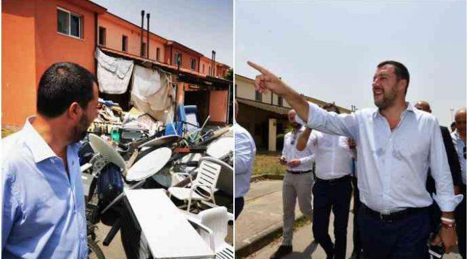 Salvini chiude personalmente centro accoglienza di Mineo – VIDEO