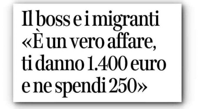"""Il boss come le Ong: """"I migranti sono  un affare"""""""