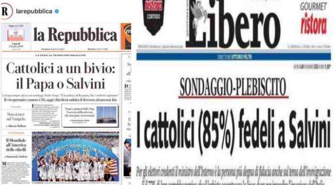 I cattolici hanno già scelto Salvini contro Bergoglio