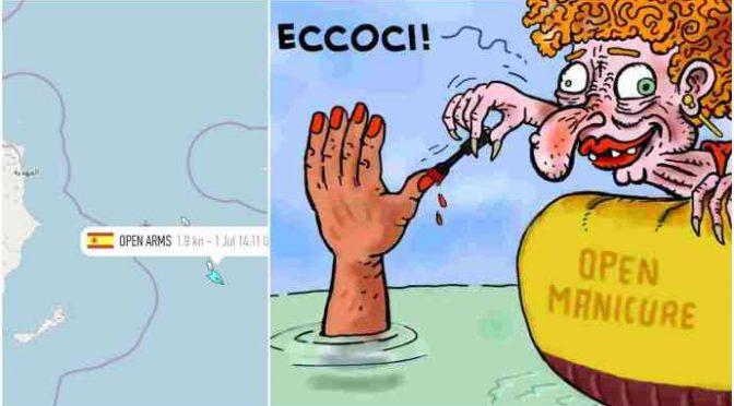 Ong a caccia di barchini da trainare in Italia: sequestriamola!