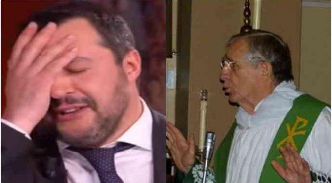 """Parroco dedica il funerale a Salvini: """"Ong sono il Vangelo"""""""