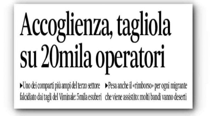 """Boss accoglienza: """"Per colpa di Salvini ho i centri immigrati vuoti"""""""