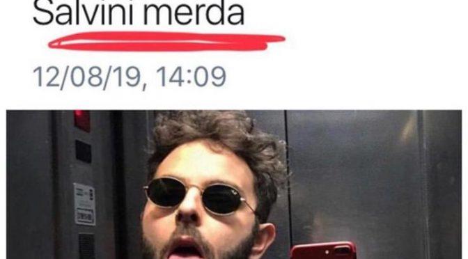 """Un altro ex cantante contro Salvini: """"Merda"""""""