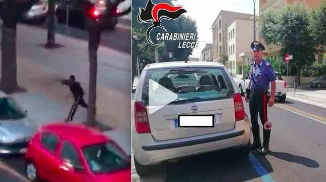 Profugo urla 'Italia vaffanculo' e sfascia 12 auto parcheggiate – VIDEO