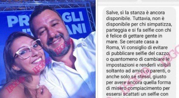 Non le affittano stanza perché si fa un selfie con Salvini