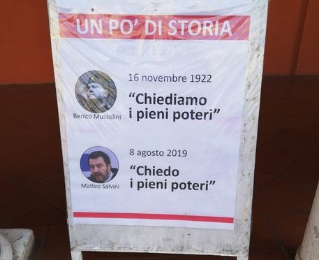 Anpi paragona Salvini a Mussolini, polemica