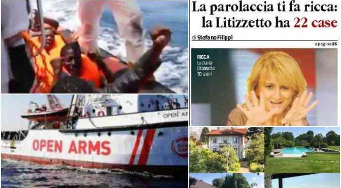 Luciana Littizzetto chiede sbarco Open Arms: ha 22 case e un impero immobiliare