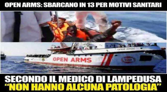 """Open Arms, medico conferma truffa Ong per sbarcare clandestini: """"Stavano tutti bene"""""""