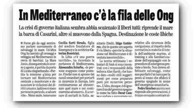 """Ong in fila verso l'Italia in attesa del governo Pd-M5s: """"Sbarcheranno tutti"""""""