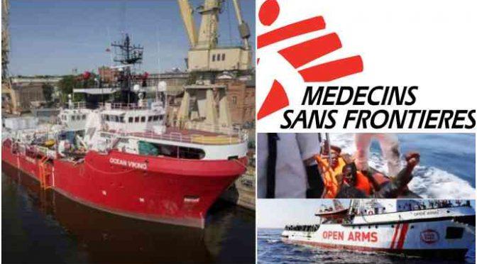 Primo carico per trafficanti ONG Msf, Salvini chiude porti