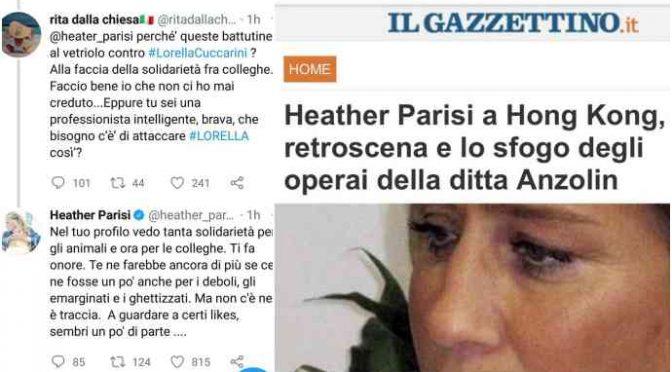 Heather Parisi, i 52 operai del marito si ricordano ancora di lei