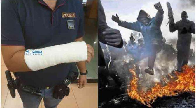 Nigeriano omicida spezza gamba a poliziotto: ne manda 2 all'ospedale