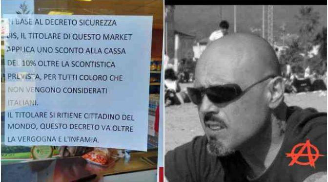 """Negoziante sinistra, sconti solo a immigrati e minaccia di morte Salvini: """"delinquente"""""""