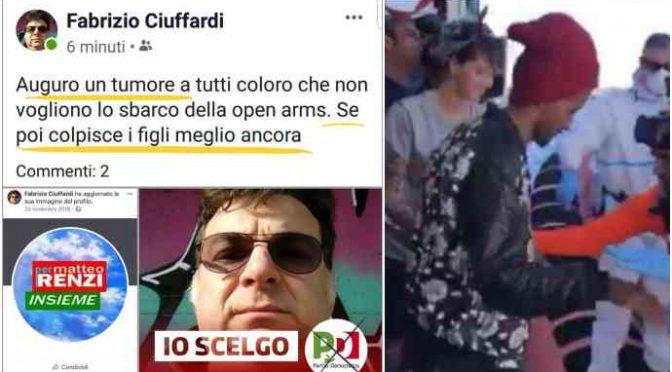 """Renziano: """"Chi non fa sbarcare Open Arms deve morire"""""""