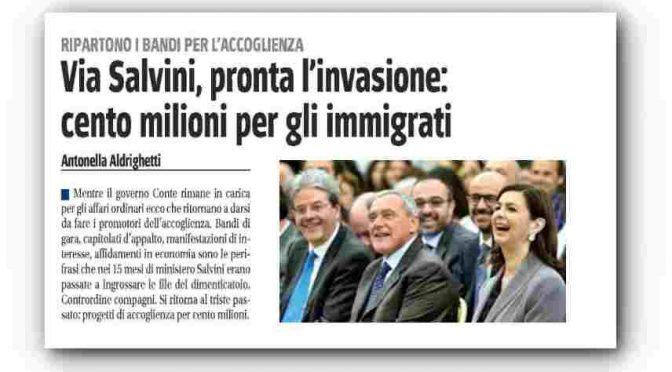Col PD al governo riparte l'invasione: subito 100 milioni per i finti profughi