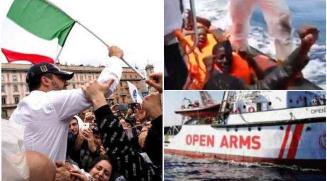 Salvini a processo a Palermo per avere respinto 107 clandestini Open Arms