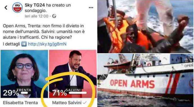 Open Arms, vince Salvini: Trenta ritira la navi militari, cacasotto