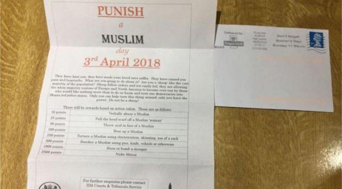 12 anni di carcere per lettere anti-musulmani