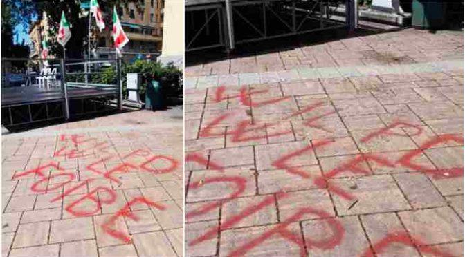 Scritte inneggianti alle foibe a Festa Unità Genova – FOTO