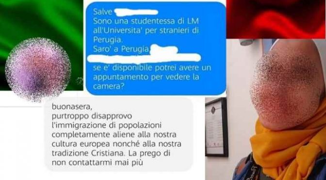 """L'uomo che affitta solo a italiani: """"Voglio che l'Italia rimanga italiana"""""""