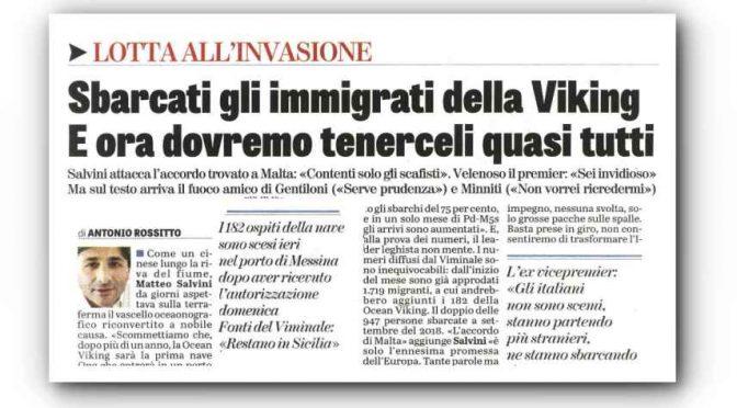 """Viminale ammette: """"Immigrati rimarranno in ITALIA"""", 60 se li pappano i Vescovi"""