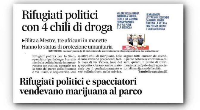 Spacciano 40mila euro di droga col permesso umanitario del PD