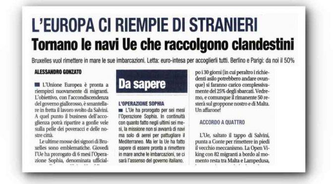 Ritorna l'operazione Sophia, ma cambia nome: ha scaricato 50mila clandestini in Italia