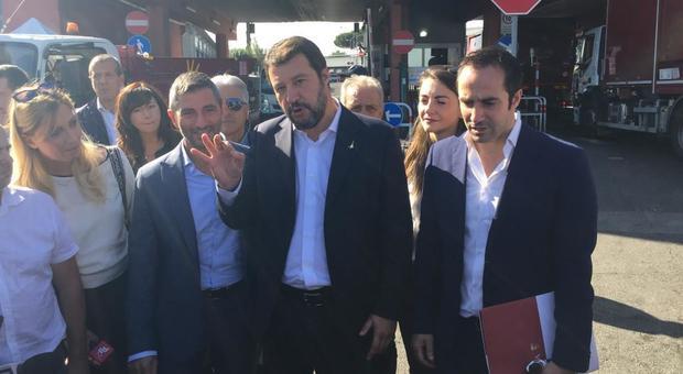 Vietato ingresso Salvini all'impianto smaltimento rifiuti di Roma per «motivi di sicurezza»