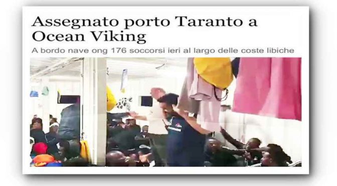 Ocean Viking sbarca in Italia 176 clandestini: assegnato porto di Taranto