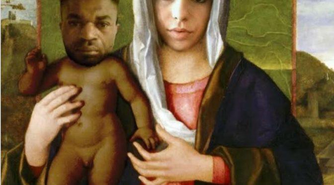 Pamela, pittore di sinistra dipinge il suo assassino Oseghale come Gesù Bambino