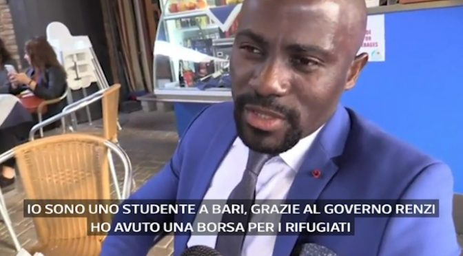"""Profugo : """"Grazie al PD italiani mi danno 5.200 euro l'anno dal 2015"""" – VIDEO"""