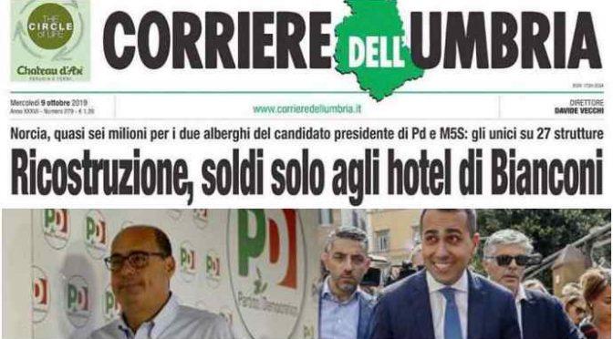 Il candidato di M5s- PD in Umbria ha guadagnato 9 milioni di euro col terremoto