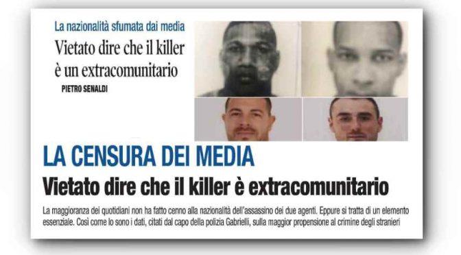 Vietato scrivere che il killer dei poliziotti è un immigrato