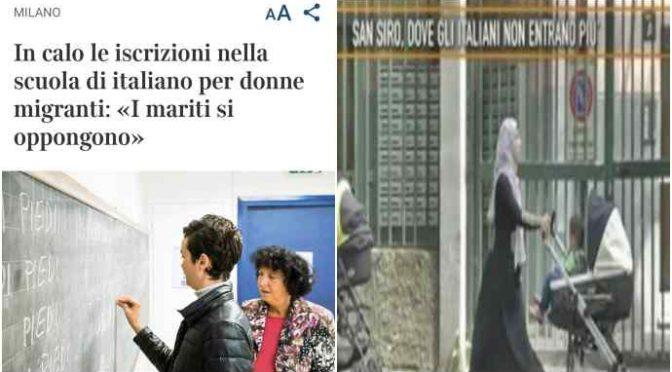Sharia a Milano, islamici vietano a donne scuola e bici