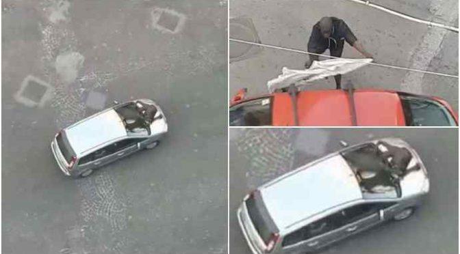 Immigrato assalta auto di passaggio: terrore a Napoli – VIDEO